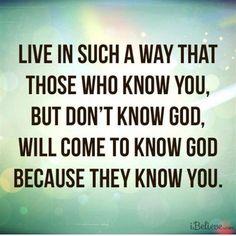 Know you ... Know God