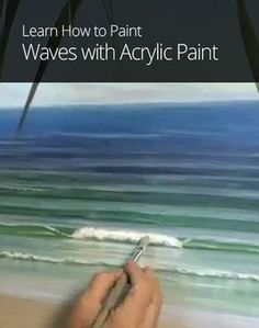 How to Paint Waves with Acrylic Paint painting acrylic abstract Wellen malen mit Acrylfarbe - Merys Stores Acrylic Painting Techniques, Art Techniques, Acrylic Paintings, Painting Videos, Wave Paintings, Beach Paintings, Acrylic Painting Flowers, Acrylic Artwork, Indian Paintings