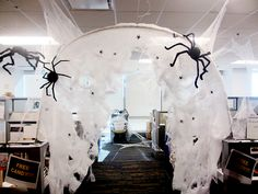 Office Halloween   Spider Hole Halloween Cubicle, Halloween Town, Halloween  2016, Halloween Costumes