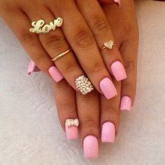 barbie pink with bows and gold accents