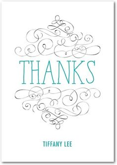 Personalized thank you cards from Treat.com. #thankyou #cards