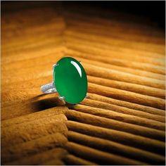 Fine Jadeite and Diamond Ring