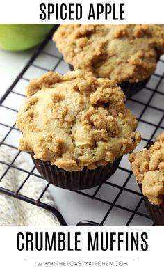 Apple Crumble Topping, Apple Crumble Muffins, Healthy Apple Crumble, Apple Crumble Recipe, Cinnamon Crumble, Fudge Recipes, Baking Recipes, Kitchen Recipes, Snack Recipes