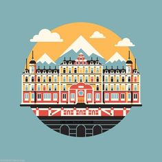 Wes Anderson The Grand Budapest Hotel Bill Murray 1988 art print poster gallery