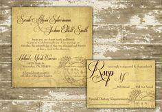 25 Vintage inspired Winery Wedding Invitations on Etsy, $66.62 CAD