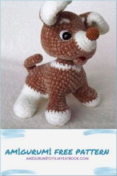 Crochet Animals, Crochet Toys, Easy Crochet, Free Crochet, Crochet Dog Patterns, Textured Yarn, Baby Puppies, Stuffed Toys Patterns, Christmas Tree Ornaments
