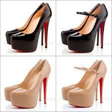 What is fashion without Women Pumps Nude Color Platform High Heels Red Bottoms Sexy Red Sole Pumps Prom Heels