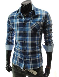 Blue button down Alan would look good in this :)