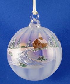 ~ Fenton Glass 2009 Hand Painted Ornament in French Opalescent ~ Wish....