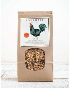 FORAGERS GRANOLA. We wanted to make an outstanding granola, so our pastry chef started playing around with different ingredients. She loaded it up with quinoa, oats, local New York State wildflower honey and dried fruit. It has a special crunch and subtle nutty flavor that gives it the unique taste we were looking for. $10.00