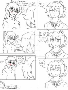 A two-panel comic of my fav yandere simulator couple. made with gimp characters belong to yandere dev A Love Confession From Ayano Yandere Boy, Yandere Manga, Ayano X Budo, Yandere Simulator Memes, Love Confessions, Love Sick, Skullgirls, Kawaii Anime Girl, Indie Games