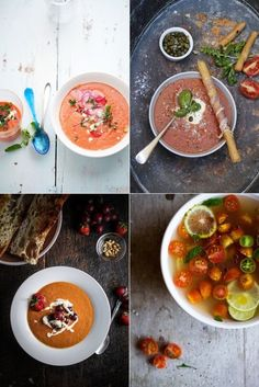 ... : Soups on Pinterest | Gazpacho, Asparagus soup and Strawberry soup