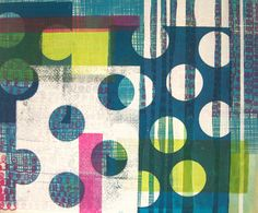 painted and printed cloth by lu summers, via Flickr