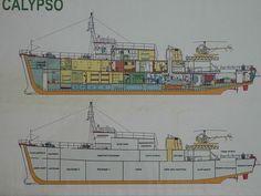 dessin de coupe de la Calypso