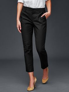 work pant: gap slim crop ankle