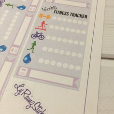 Fitness Tracker (Weekly) Stickers for Passion Planner, Erin Condren, Happy Planner, Bujo, Kikkik, Filofax...etc by LyRainzStickrzNStuff on Etsy