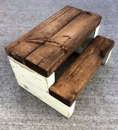 Rustic Kid's Wooden Step Stool - Handmade, Shabby Chic, Multiple Colors Available Woodworking Furniture, Fine Woodworking, Popular Woodworking, Woodworking Ideas, Woodworking Chisels, Woodworking Classes, Youtube Woodworking, Woodworking Store, Woodworking Machinery