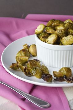 Honey Garlic Roasted Brussels Sprouts - Bake.Eat.Repeat.