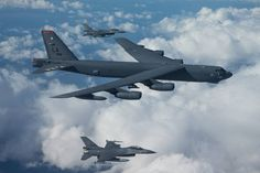 The Aviationist » Dutch F-16s intercepted U.S. B-52 bombers over Europe. And took some awesome photographs