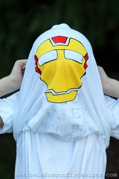 Superhero Flip T-shirt Tutorial {Kids Craft}