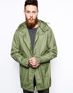 Discover the latest fashion and trends in menswear and womenswear at ASOS. Shop this season's collection of clothes, accessories, beauty and more. Fishtail Parka, Mens Raincoat, Asos Online Shopping, Latest Fashion Clothes, Military Jacket, The Selection, Women Wear, Laurel Wreath, Mens Fashion