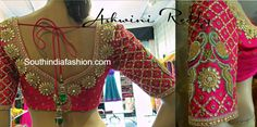 wedding silk saree blouse designs
