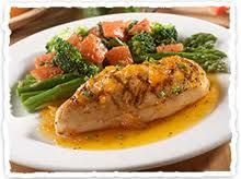 Olive Garden's apricot chicken. I didn't think I'd like it, but it is super delicious.