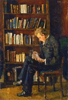 Amare-habeo:Edvard Munch (Norwegian, 1863-1944) Andreas Reading,...