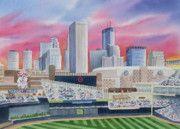 Minneapolis Prints - Target Field Print by Deborah Ronglien