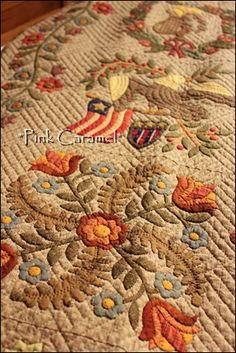 This is a beautiful quilt! Gorgeous colors. It would make a beautiful wool block
