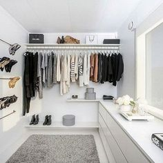 This has got to be the best DIY budget walk in wardrobe in the world…