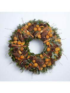 Orange and Cinnamon Wreath Cinnamon, Wreaths, Seasons, Orange, Halloween, Home Decor, Canela, Decoration Home, Door Wreaths