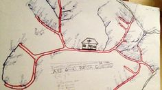 A hand-drawn map on the wall of a rural clinic shows health workers where a woman with Ebola may be hiding.