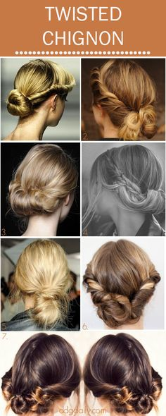 Twirl It: A DDG Moodboard full of twisted chignons - dropdeadgorgeousdaily.com