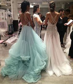 dress image prom homecoming best friend goals Tumblr pastel ruffles dress dresses blue blush bedazzle strap tulle train tan sister sisters twins gown gowns style fashion expensive lifestyle event formal show queen princess shop shopping beauty diamonds embellished embellishments sequins seafoam light soft model models modeling career photoshoot photography