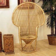 Hospitality Rattan 1106-9950-NAT Peacock Chair Buri in Natural