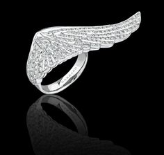 Pavé diamond and white gold ring. Wings Collections Garrard