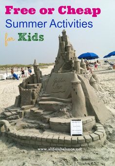 Free or Cheap Summer Activities for kids