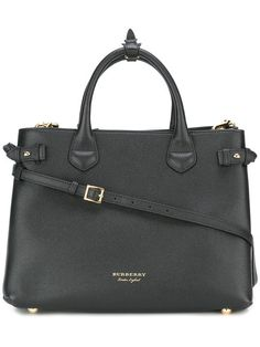 Burberry The Medium Banner In Leather And House Check - Farfetch a1a2546faf767