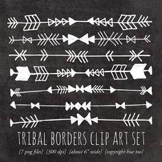 Tribal borders, arrow/geometric tattoo ideas