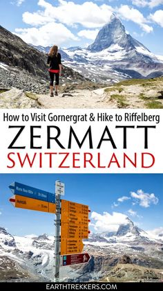 Visit Gornergrat for the best view of the Matterhorn and hike to Riffelberg. This is one of the best things to do in Zermatt, Switzerland. #zermatt #matterhorn #gornergrat #switzerland