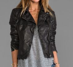 Faux-leather jacket love
