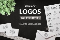 30 Premade Logos – Geometric Edition by AgataCreate on Envato Elements Business Brochure, Business Card Logo, Font Combinations, Geometric Logo, Geometric Circle, Minimal Logo, Great Logos, Wordmark, Creative Logo