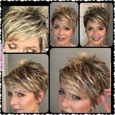 Next best thing hair hacks - Thin Hair Cuts Short Haircut Styles, Short Pixie Haircuts, Cute Hairstyles For Short Hair, Pixie Haircut For Thick Hair, Short Pixie Cuts, Crazy Hairstyles, Trendy Haircuts, Dreadlock Hairstyles, Pixie Bob