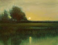 """Marsh Sunrise"" by Eric Schwerdtfeger Oil ~ 11 x 14"