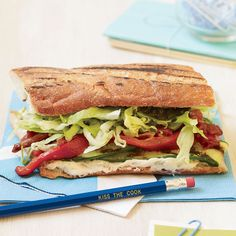 This vegetarian sandwich from New York's Brooklyn Fare is terrific warm, but for a shortcut, use jarred olive tapenade instead of homemade and serve t...