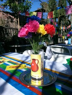 Loteria themed centerpiece xxv