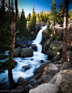 Alberta Falls, Colorado, US. Just another breathtaking place at Rocky Mountain National Park!