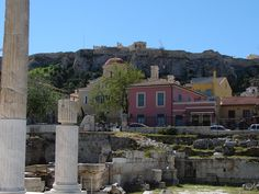 View of the ancient Roman Agora and Acropolis