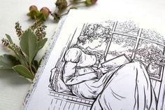 Colour Me Jane, a Jane Austen Coloring Book   Reading   Penguin Random House   Jacqui Oakley Illustration